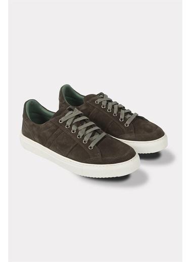 Krähe Zax Haki Süet Minimal Sneaker Haki